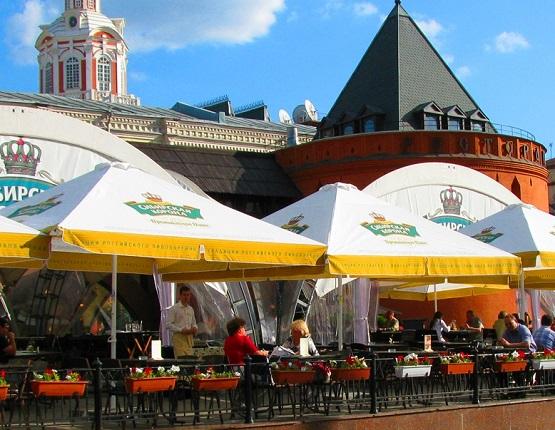 Пивной ресторан под стенами Московского Кремля